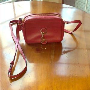 Red leather Rebecca Minkoff crossbody purse